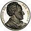 SWEDEN. Charles XII (1697-1718). Silver 1844. Proof-like!