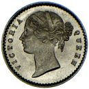 BRITISH INDIA. Victoria. 2 Annas 1841. UNC! $1 Start N/R!